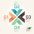 Alphabet retro colour style vector illustration Royalty Free Stock Image