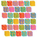 Alphabet russian blocks Royalty Free Stock Photo