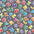 Alphabet seamless pattern Royalty Free Stock Photo