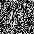 Alphabet seamless pattern vector Stock Image