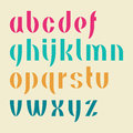 Alphabet set of letters illustration Royalty Free Stock Photography