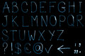 Alphabet set from neon light Royalty Free Stock Photo