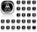 Alphabet shiny buttons Stock Image