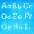 Alphabet of soap bubbles vector