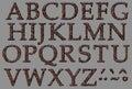Alphabet rock iron letter set