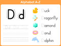 Alphabet tracing worksheet writing a z Royalty Free Stock Image
