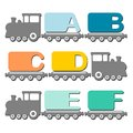 Alphabet train Stock Photos
