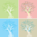 Alphabet tree concept eco conserve vecto illustrated made with adobe illustrated for Royalty Free Stock Photography