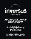Alphabet. Uppercase, lowercase letters, numbers and symbols. Royalty Free Stock Photo