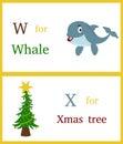 Alphabet W and X