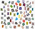 Alphabet on a web Stock Image