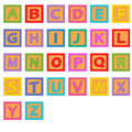 Alphabet wooden blocks Royalty Free Stock Photo