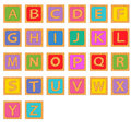 Alphabet wooden english blocks Royalty Free Stock Photo
