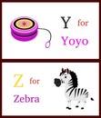 Alphabet Y and Z