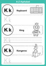 Alphabet a z exercise with cartoon vocabulary for coloring book illustration vector Royalty Free Stock Photos