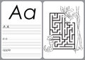Alphabet A-Z - puzzle Worksheet - Coloring book