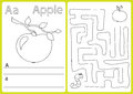 Alphabet A-Z - puzzle Worksheet, Exercises for kids - Coloring book Royalty Free Stock Photo