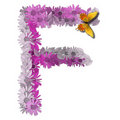 Alphabetical letter consonant F Royalty Free Stock Image