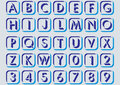 In alphabetical letters. Royalty Free Stock Photo