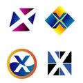 Alphabetical logo design concepts letter x Stock Photos