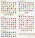 Alphabetically sorted circle flags of the world. Set of round flags Royalty Free Stock Photo