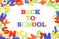 Alphabets and Back to School Royalty Free Stock Photo