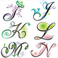 Alphabets elements design -  s Stock Image