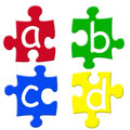 Alphabets puzzels Royalty Free Stock Photo