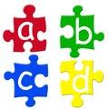 Alphabets puzzels Royalty Free Stock Photo