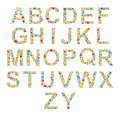 Alphabets. Set letters of stylized colorful bubbles or candy. Royalty Free Stock Photo