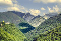 Alpi apuane tuscany italy mountain landscape at summer Stock Photography