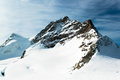 Alpine Alps mountain landscape at Jungfraujoch Royalty Free Stock Image