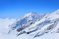 Alpine alps mountain landscape at jungfraujoch top of europe switzerland Royalty Free Stock Image