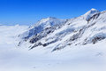 Alpine alps mountain landscape at jungfraujoch top of europe switzerland Stock Photography