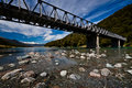 Alpine bridge - New Zealand Stock Photography