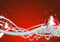 Alpine christmas illustration Royalty Free Stock Photo
