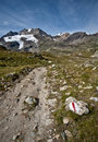 Alpine footpath Stock Photos