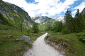 Alpine Hiking Trail Royalty Free Stock Photo