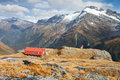 Alpine hut in new zealand alps Royalty Free Stock Photography