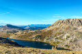 Alpine Lake in Beartooth Mountains Royalty Free Stock Photo