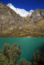 Alpine lake in Cordiliera Blanca Royalty Free Stock Image