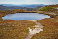 Alpine lake in cradle mountain lake st clair national park t tarn at Royalty Free Stock Images