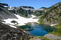 Alpine lake and mountain landscape Royalty Free Stock Photo