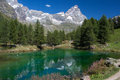 Alpine lake reflection Royalty Free Stock Photo