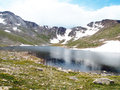 Alpine lake summit which is a natural located near the summit of mount evans in colorado Royalty Free Stock Photography
