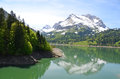 Alpine lake, Switzerland Royalty Free Stock Images