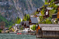 Alpine lake village Hallstatt Stock Photography