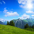 Alpine landscape the jöchelspitz in the lechtal alps tirol austria Royalty Free Stock Photography