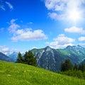 Alpine landscape the jöchelspitz in the lechtal alps tirol austria Royalty Free Stock Photography