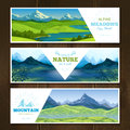 Alpine Meadows Banners Set
